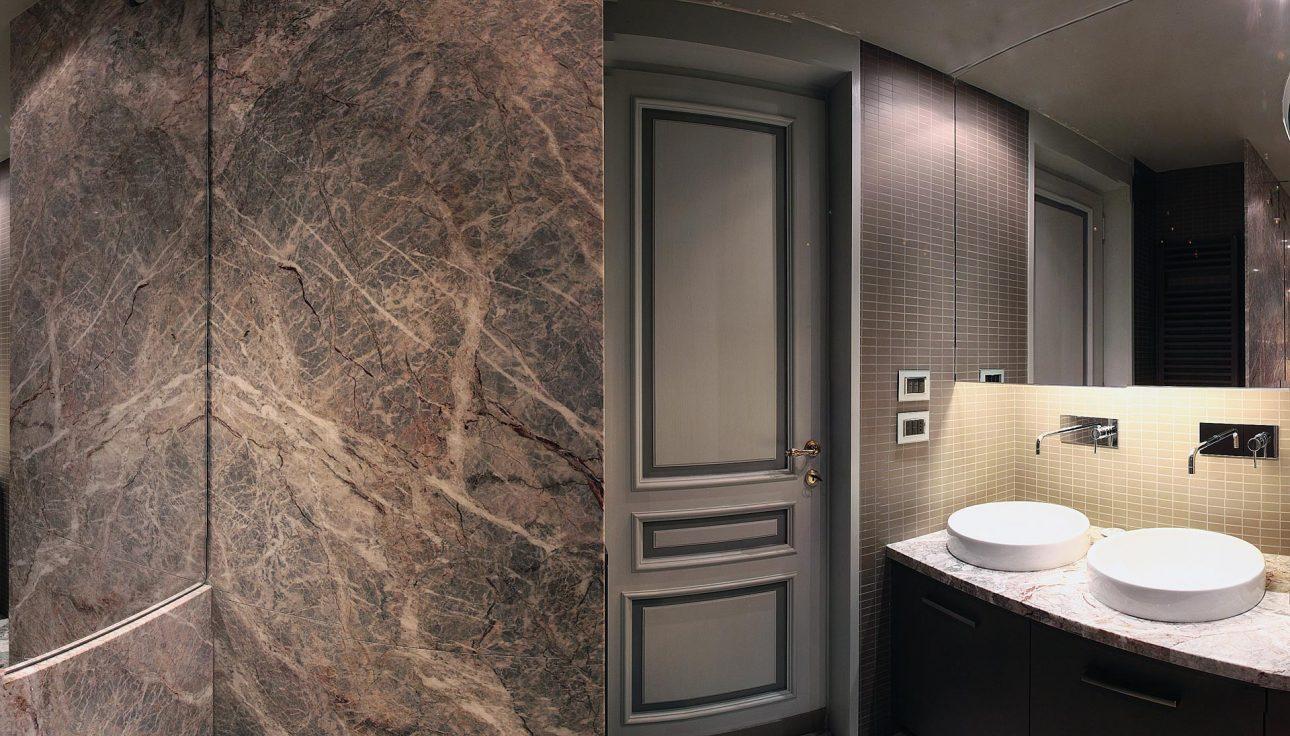 Rivestimento pareti doccia e top bagno in fior di pesco piccinini marmi - Rivestimento pareti bagno ...